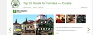 Hotel Garten has received Trip Advisor's Travelers' Choice Award
